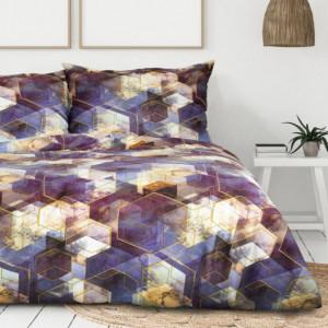 Pestrobarevné bavlněné povlečení s geometrickým motivem