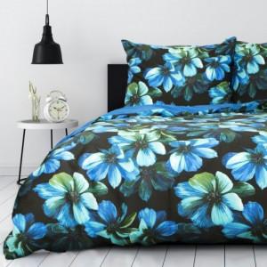 Modré květinové povlečení z bavlny