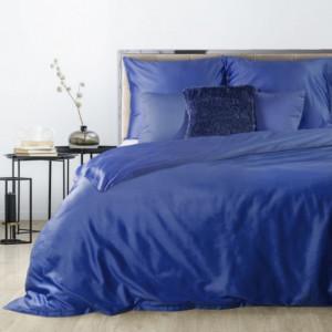 Jednobarevné oboustranné povlečení modré barvy