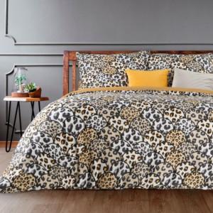 Originální povlečení s leopardím vzorem béžové barvy