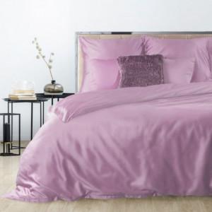 Kvalitní saténové povlečení tmavě růžové barvy