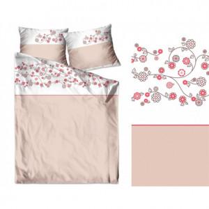 Bavlněné povlečení v pudrově růžové barvě