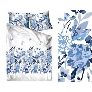 Bavlněné povlečení v modro bílé kombinaci