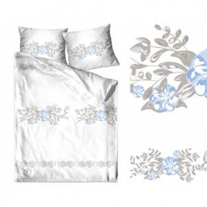Bavlněné povlečení v béžovo bílé barvě