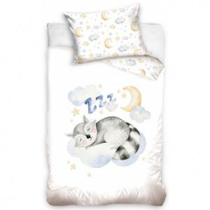 Dětské bavlněné ložní povlečení spící zvířátko