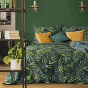 Kvalitní bavlněné ložní povlečení zelené barvy
