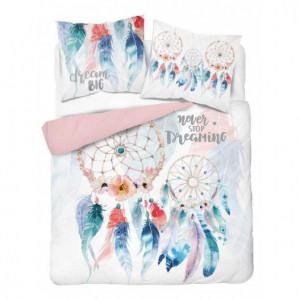 Bavlněné povlečení v pastelových barvách s lapačem snů