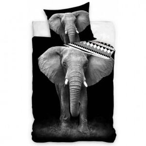 Bavlněné ložní povlečení s potiskem slona 3D