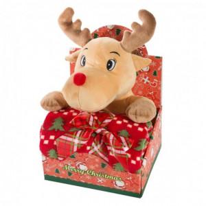 Vánoční dárkové balení pro děťátko deka a plyšová hračka