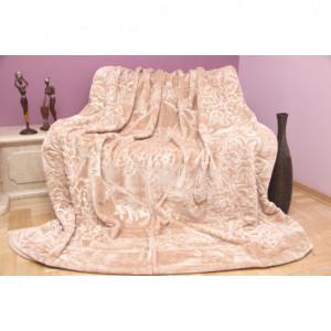Luxusní deka v béžové barvě
