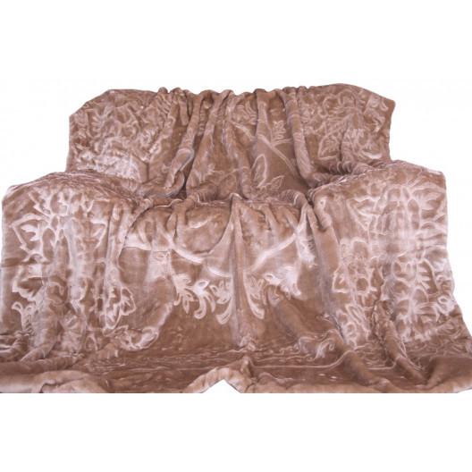Luxusní deka kakaově hnědé barvy