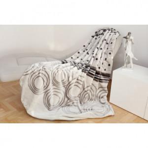Teplá deka s geometrickými vzory šedé barvy