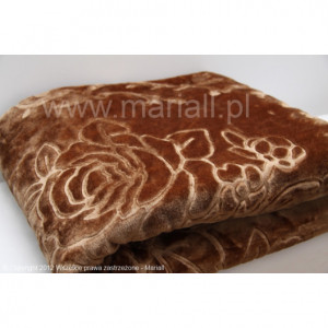 Luxusní deka hnědé barvy