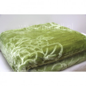 Luxusní deka ve světlé olivově zelené barvě