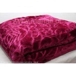 Luxusní deka v bordó barvě