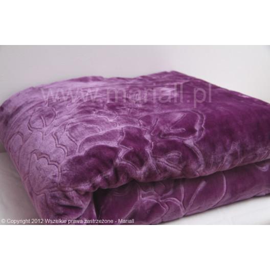 Luxusní deka ve fialové barvě