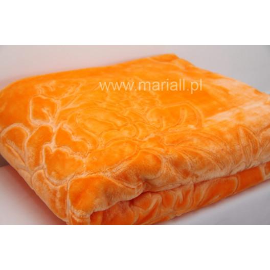 Luxusní deka v oranžové barvě