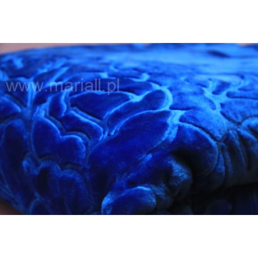 Luxusní deka v královské modré barvě
