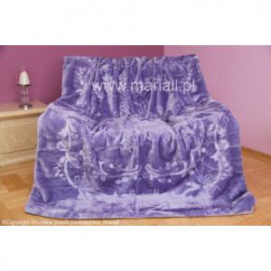 Luxusní deka ve fialové barvě lila