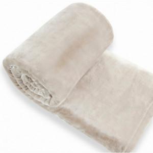 Plyšová deka béžové barvy