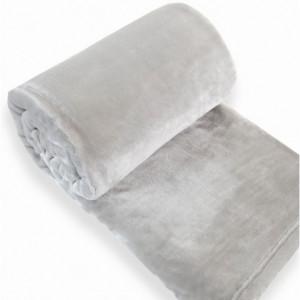 Plyšová deka šedé barvy