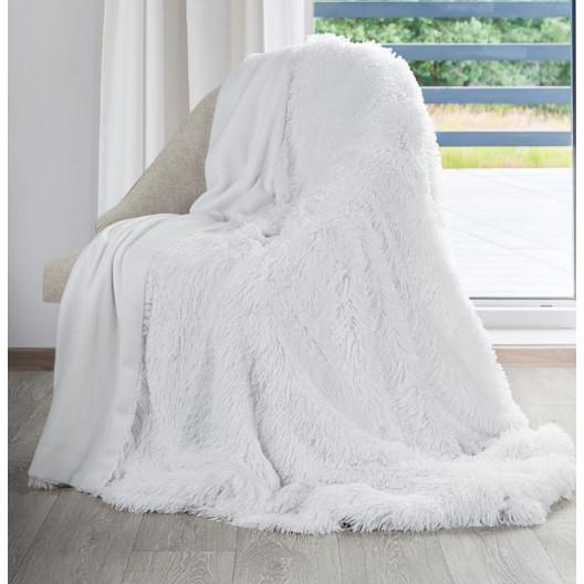 Sněhově chlupatá deka