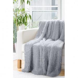 Dekorativní deka přehoz v šedé barvě