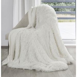 Kremova chlupatá deka