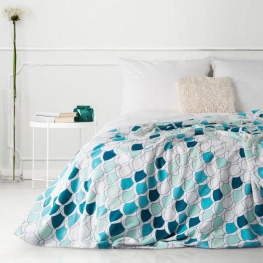 Moderní deka v krásných tyrkysových barvách