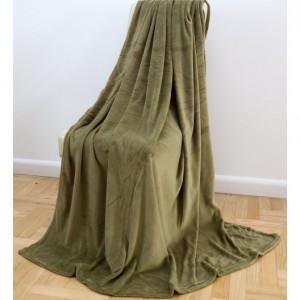 Univerzální olivově zelená deka