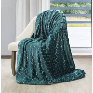 Krásná tyrkysová deka s moderním vzorem