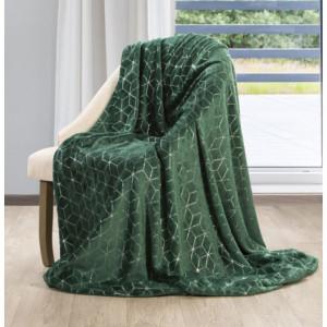 Krásná zelená deka s moderním vzorem
