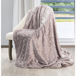Krásná růžová deka s moderním vzorem