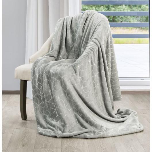 Krásná šedá deka s moderním vzorem