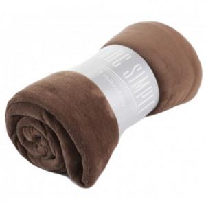 Univerzální deka kakaově hnědé barvy