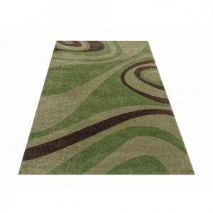 Zelený vzorovaný koberec