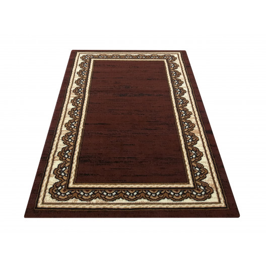 Hnědý elegantní koberec ve stylu vintage