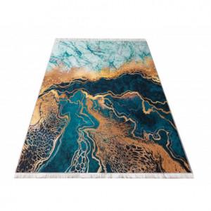 Protiskluzový koberec s abstraktním vzorem zelený