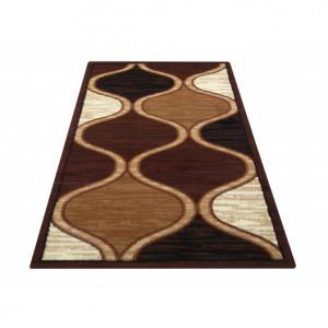 Elegantní koberec v odstínech hnědé