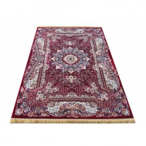 Červený vintage koberec s mandalou