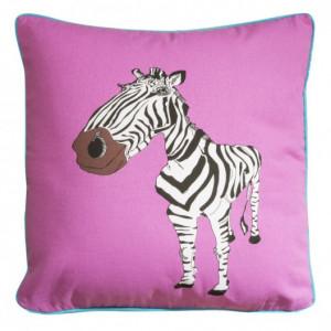 Růžové dětské povlaky na polštáře s motivem zebry
