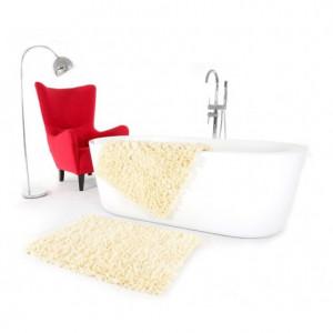 Krémový koupelnový kobereček 60 x 90 cm