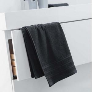 Černá bavlněná osuška 50 x 90 cm