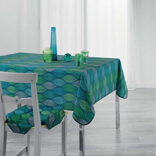 Stylový ubrus na stůl s efektem listů WINTER 150 x 240 cm