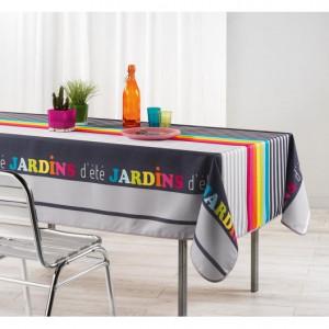 Ubrus na stůl s nadpisem JARDINS 150 x 240 cm