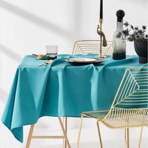 Kvalitní ubrus na stůl v tyrkysové barvě 130 x 180 cm