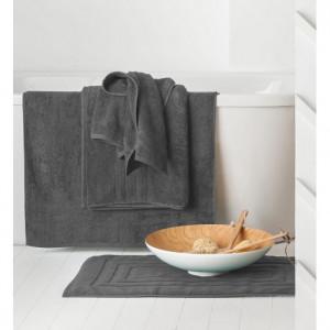 Osušky do koupelny v šedém provedení 70 x 130 cm