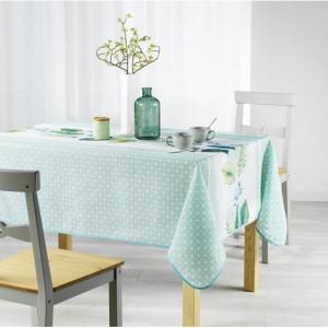 Kvalitní ubrus na stůl v světle zelené barvě 150 x 240 cm