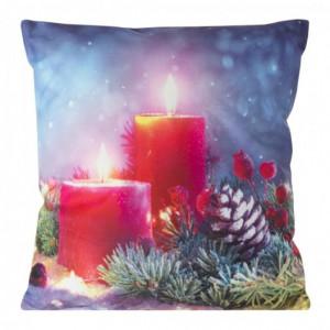Vánoční povlak na polštář se svícemi