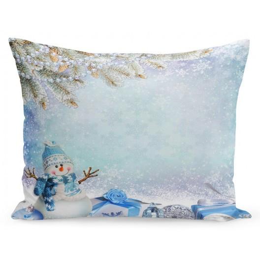 Vánoční povlak na polštář sněhové vločky